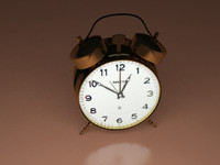 3d old alarm clock