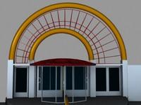 3d model entrance hotel home
