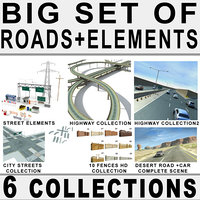 roads big highway 3d model