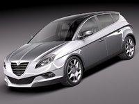 3d lancia delta 2012 car model