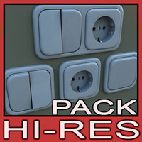 switches outlets pack 3d max