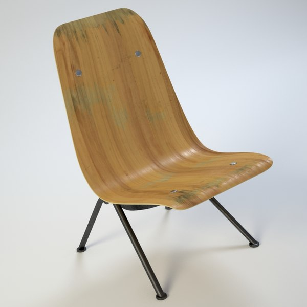 3d vintage chair - Photorealistic Antony Lounge Chair (2)... by BBB3viz
