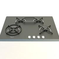 3d model gas cooker