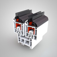 3d model pvc window profile