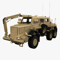 buffalo protected vehicle c4d