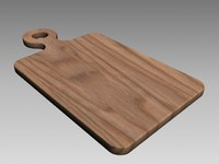 3d cutting board model