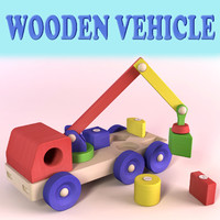wooden toy vehicle 3ds