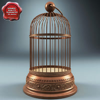 old bird cage 3d model