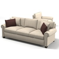 Baker Cinema Sofa 6384-96 modern traditional chair  armchair 6384-37