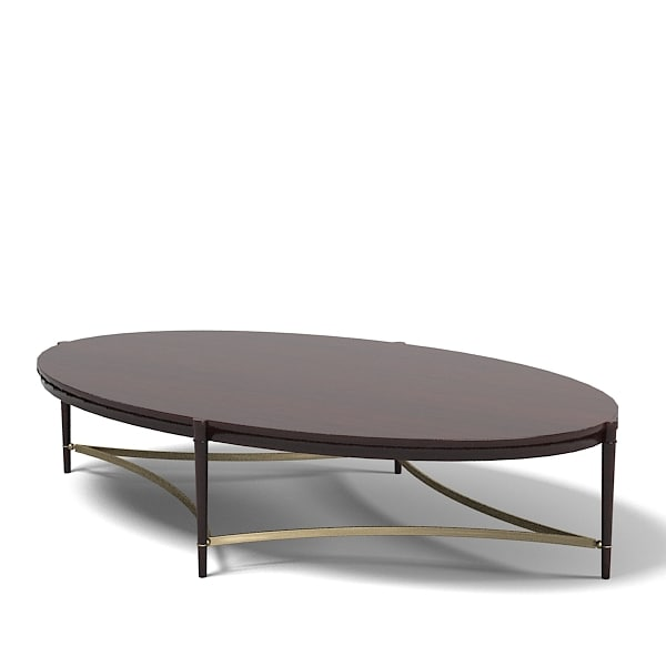 baker thomas pheasant modern contemporary oval coffee table