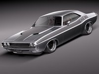 dodge challenger 1970 custom 3d model