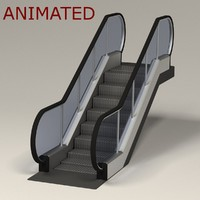 3d escalator
