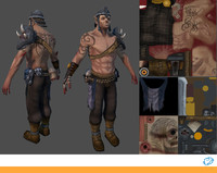 fantasy male character 3d max
