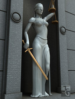 lady justice statue v 3d c4d