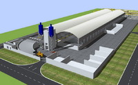 3d model of precast factory building