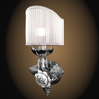 villari 4100391 classic wall lamp sconce floral