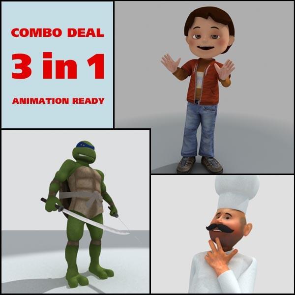 Boy, Cook and Turtle ninja