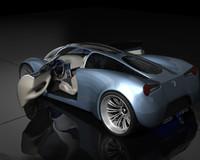 besegra v1 concept car 3d max