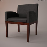3d tao armchair leather