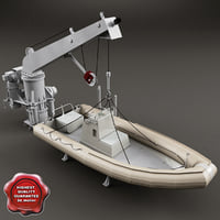 Boat Davit and Rescue Boat