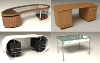 furnitures desk 3d model