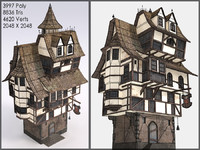 Fantasy Building II, Low Poly, Textured