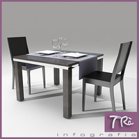 3d model café restaurant bar chair table