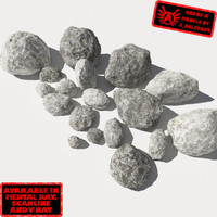 3ds max smooth rocks stones -