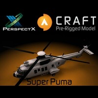 eurocopter super puma pre-rigged 3d model