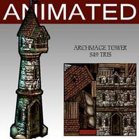 3d model of archmage tower
