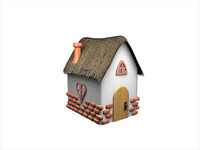 fairy house heart 3d obj