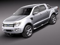 3d model ranger 2012 pickup