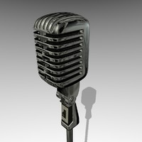 classic microphone low-poly