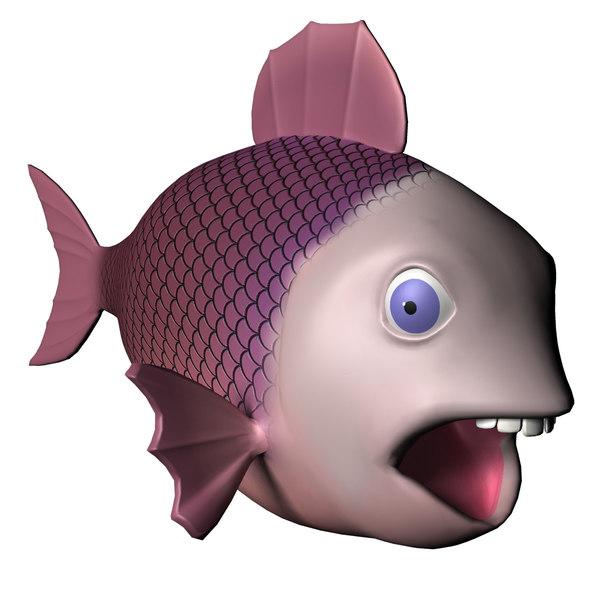 3dsmax Fish Cartoon Character Rigged