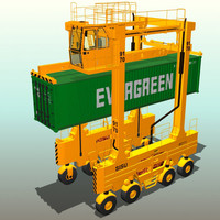 straddle carrier 3d model