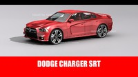 3d model dodge charger srt