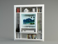 3d model shelf tv