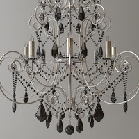 3ds chandelier ornate beaded
