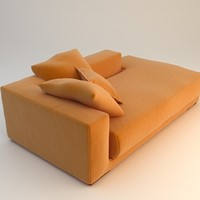 orange daybed sofa max