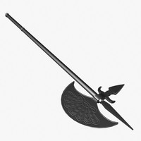 3d model war axe persian