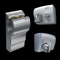 3d 3 modern hand dryers