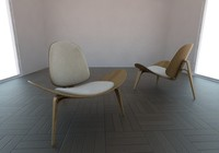 3d chair hans wegner model