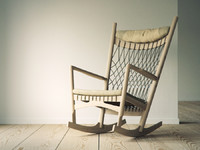 3d hans wegner pp124 lounge chair