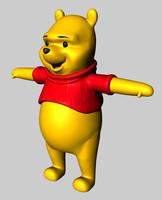 pooh bear c4d free