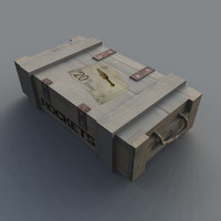 3d rocket ammo pickup model