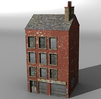 residential city building 3d 3ds