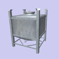 inox container 3d model