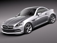 3d model of mercedes benz slk 2012