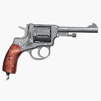 nagant revolver 3d max