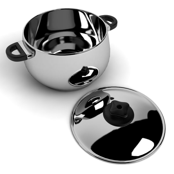 3dsmax pot cookware - Pots Collection 1... by chaja